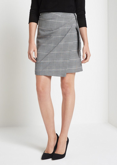 Elegant business skirt with a glencheck pattern from comma