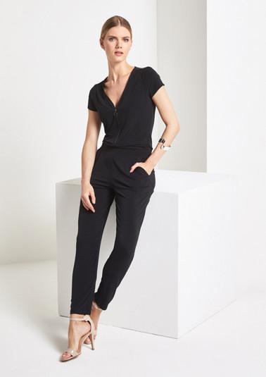 Lässiger Jersey-Jumpsuit mit Zipper