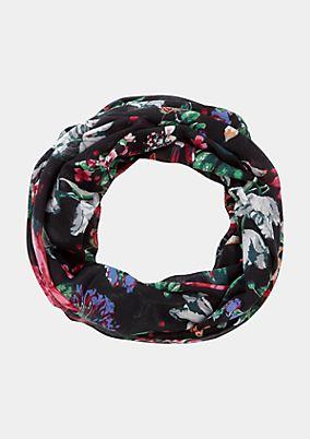 Loopschal mit farbenprächtigem Floralprint