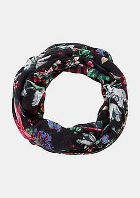 Snood with a colourful floral print from comma