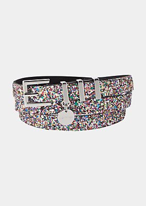 Thin belt with rhinestone embellishment from comma