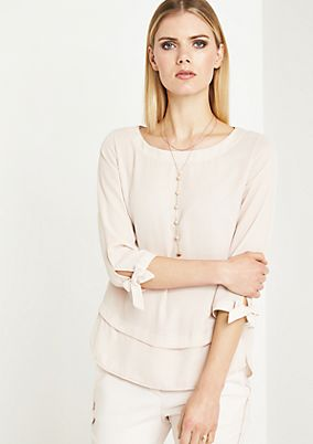 3/4-length sleeve crêpe blouse in a layered look from comma