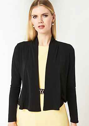 Casual jersey jacket with long sleeves from comma