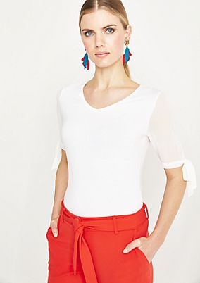 Sporty short sleeve top with smart details from comma