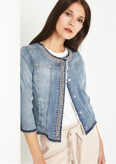 3/4-length sleeve denim jacket in a vintage look from comma