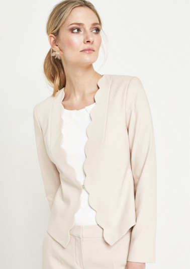 Extravagant business blazer with a hook fastener from comma