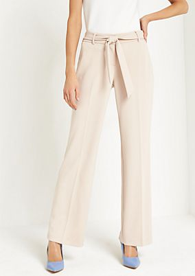 Elegant crêpe trousers with a wide belt from comma