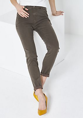 Fine satin trousers with sophisticated details from comma
