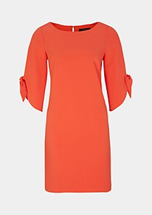 3/4-sleeve crêpe dress with sophisticated details from comma
