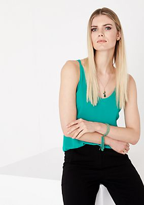 Chiffon top with narrow straps from comma