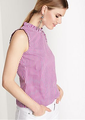 Blouse top with ruffle embellishments from comma