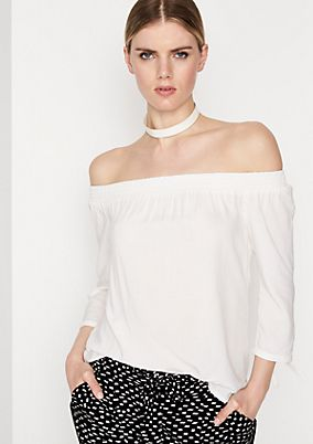 Off-the-shoulder blouse with 3/4-length sleeves from comma