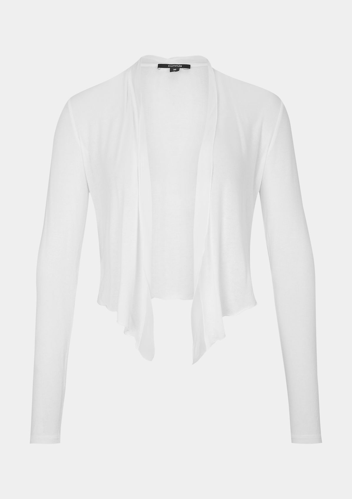 Lightweight bolero cardigan with long sleeves from comma