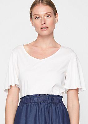 Kurzarm-Jerseyshirt mit dekorativen Details