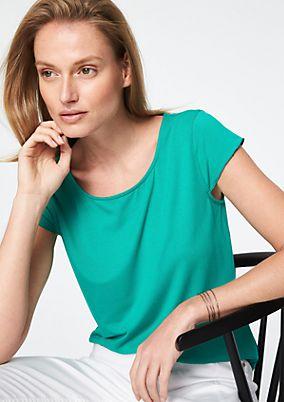 Kurzarm-Jerseyshirt mit smarten Details