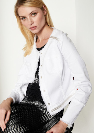 Short jacket with glittering decorative stays from comma