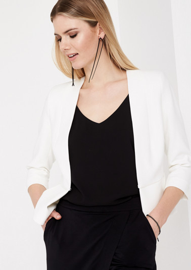 Short business blazer with 3/4-length sleeves from comma