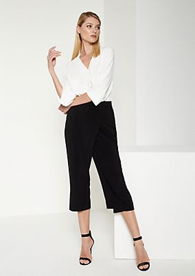 Jersey culottes with a 7/8-length leg from comma