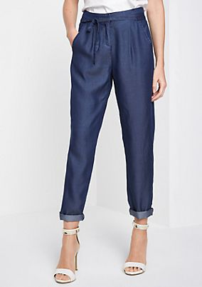 Casual leisure trousers in a denim look from comma