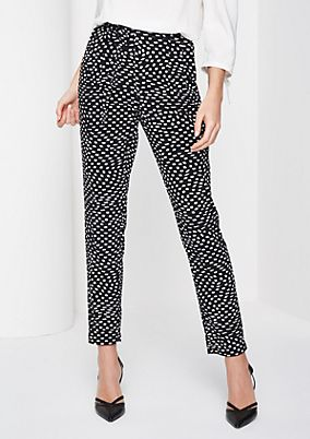 Jersey lounge trousers with an all-over print from comma