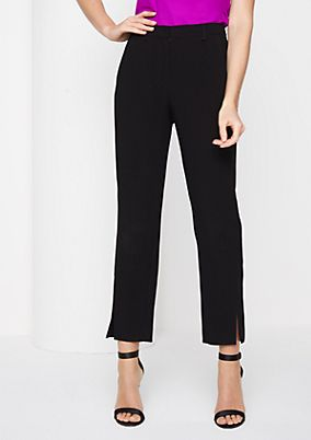 Elegant, 7/8-length business trousers from comma