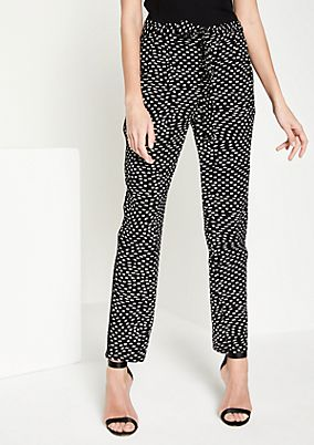 Lightweight casual trousers with an all-over pattern from comma
