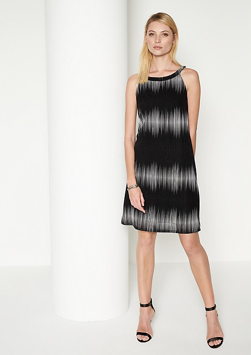 Mesh knitted dress with decorative colour gradations from comma