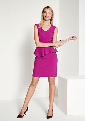 Elegant sheath dress with a peplum from comma