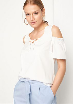 Blouse top with cut-outs from comma