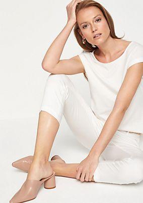 Jerseyshirt mit kurzen Ärmeln