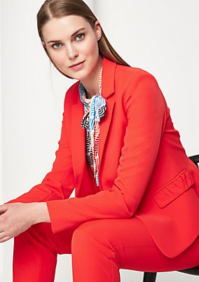Ruffled stretch blazer from comma