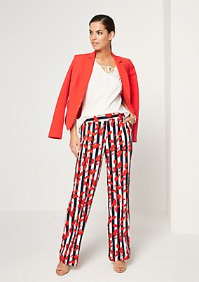 Patterned trousers in a cropped style from comma