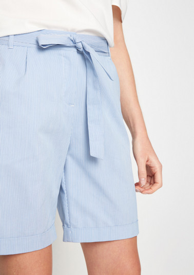 Finely striped Bermudas from comma