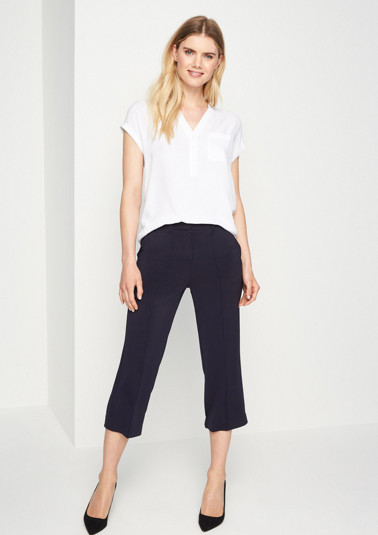 Flowing trousers with a wide leg from comma
