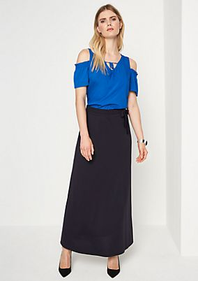 Maxi skirt with a tie-around belt from comma