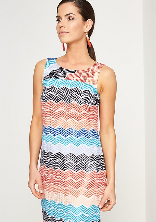 Mesh dress with a zigzag pattern from comma