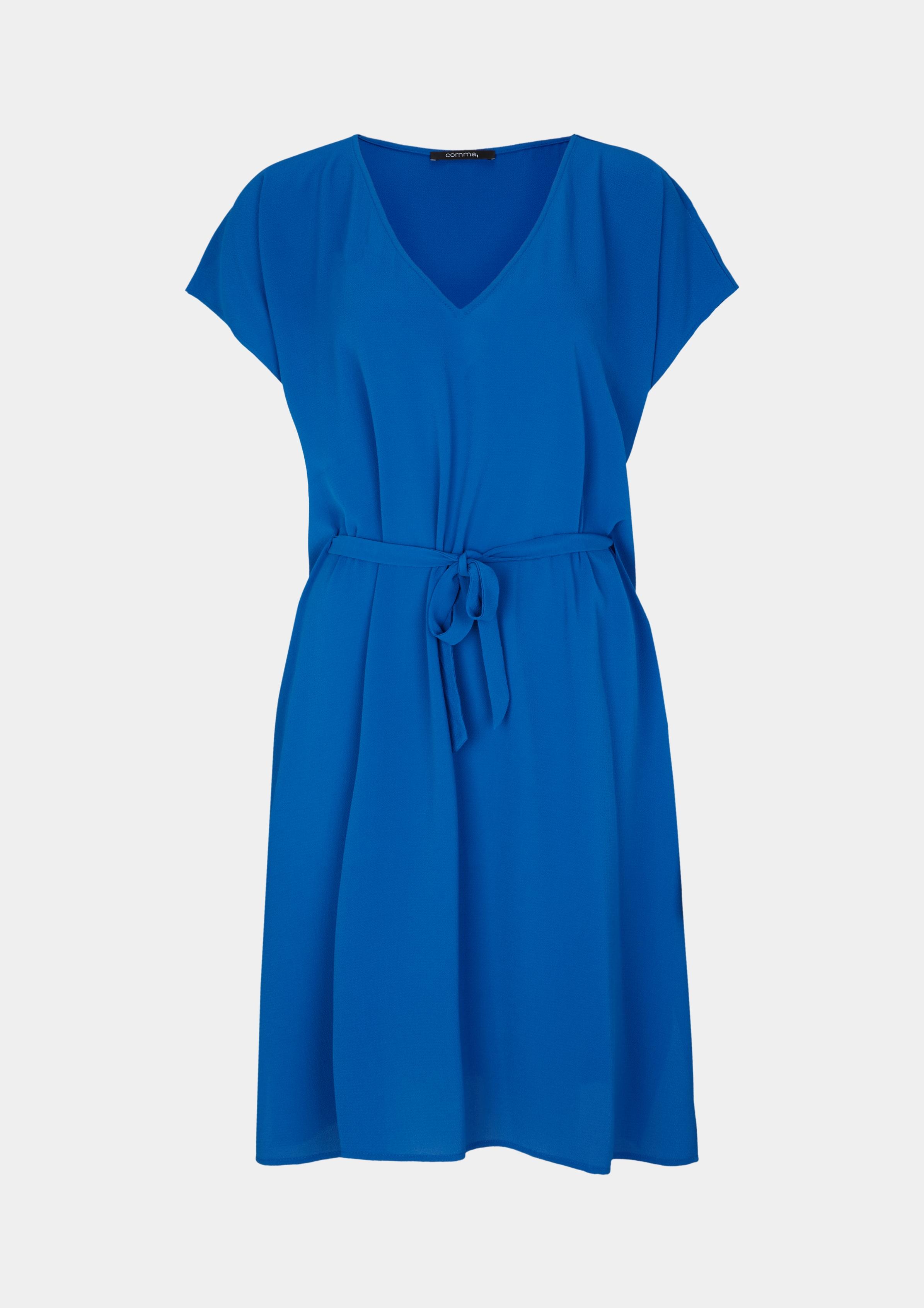 Tunika | Bekleidung > Tuniken > Sonstige Tuniken | Blau | 94% polyester -  6% elasthan | comma
