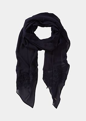 Chiffon scarf with lace trims from comma