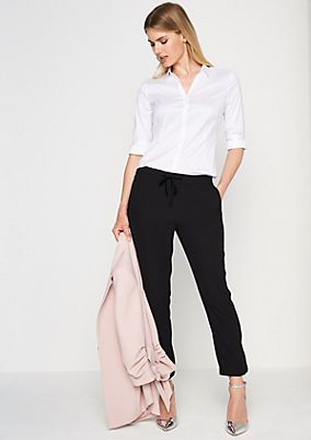 Poplin blouse with smart details from comma