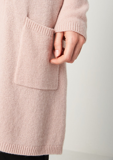 Long cardigan with a shawl collar from comma