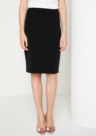 Business skirt with a fine ribbed texture from comma