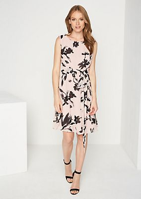 Delicate chiffon dress with an all-over pattern from comma