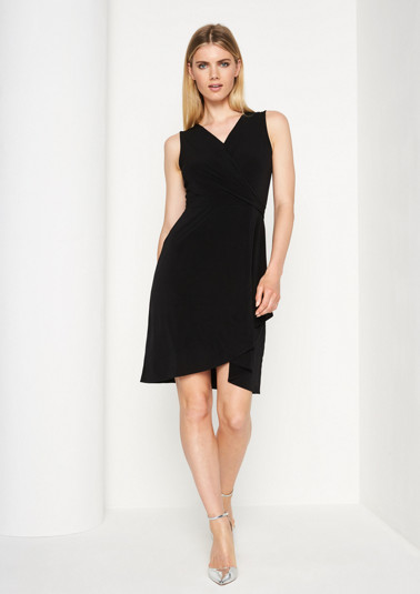 Lightweight jersey dress in a wrap-over look from comma