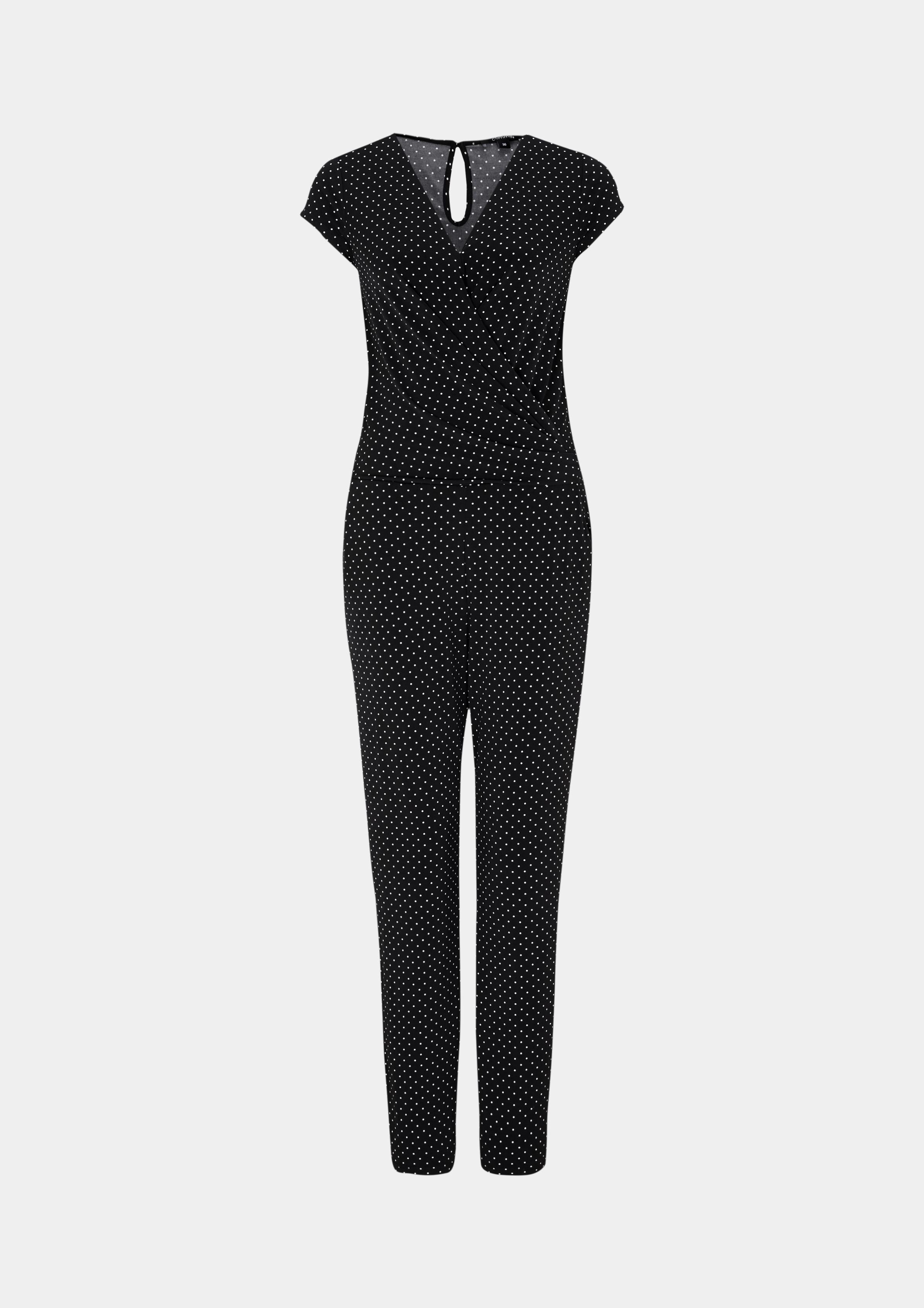 Overall | Bekleidung > Overalls | Grau/schwarz | 95% polyester -  5% elasthan | comma