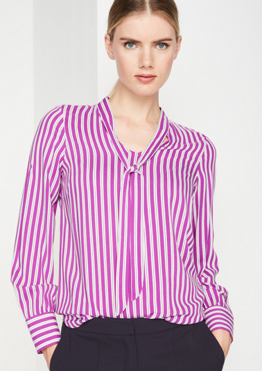 Business blouse with a striped pattern from comma