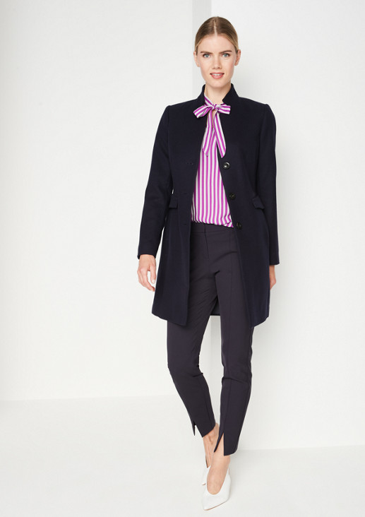 Business blouse with a stripe pattern from comma