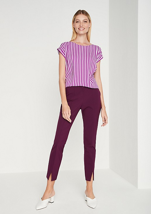 Short sleeve blouse with vertical stripes from comma