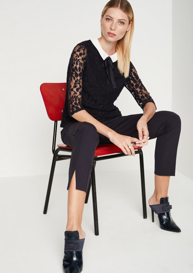 Delicate lace top with 3/4-length sleeves from comma