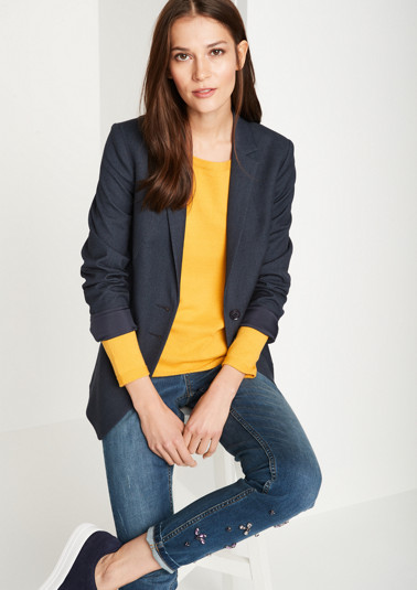 Elegant business blazer with patch pockets from comma