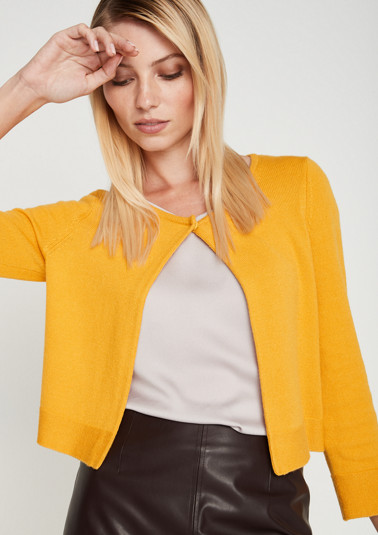 Lightweight knitted bolero with 3/4-length sleeves from comma